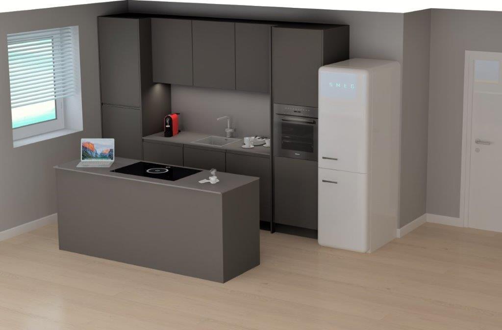 Küchenansicht EG Ferienhaus Langeoog
