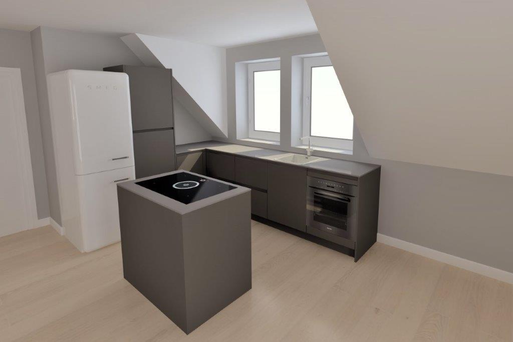 Küchenansicht OG Langeoog Ferienhaus